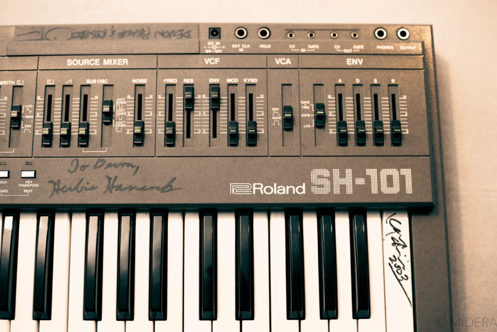 Front right side of the Roland SH-101