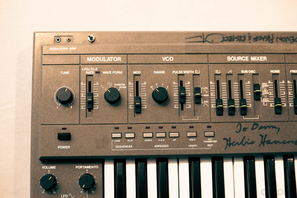 Left side of the Roland SH-101 panel