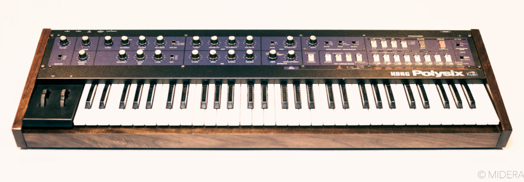 Front panel of the Korg Polysix