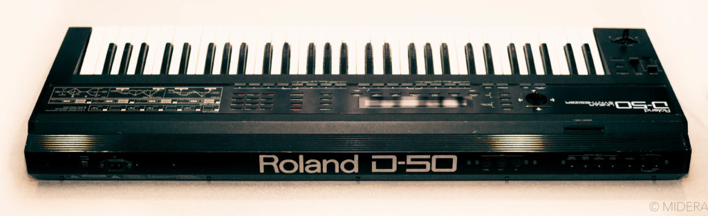 Back panel of Roland D50
