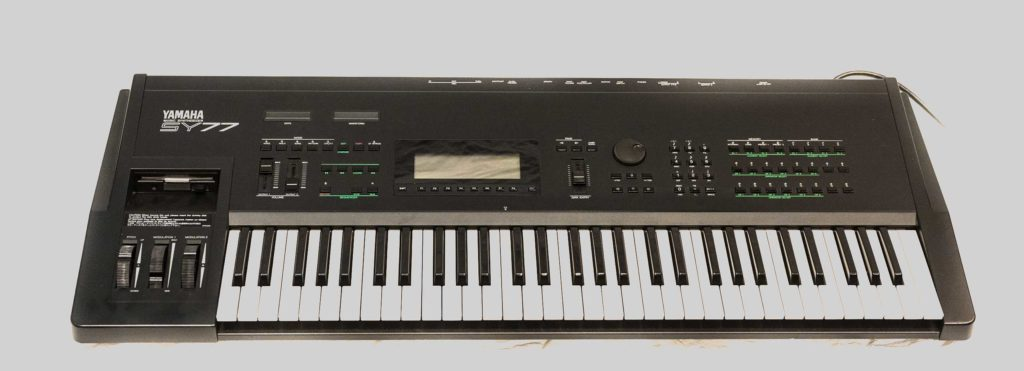 Front panel of the Yamaha SY77