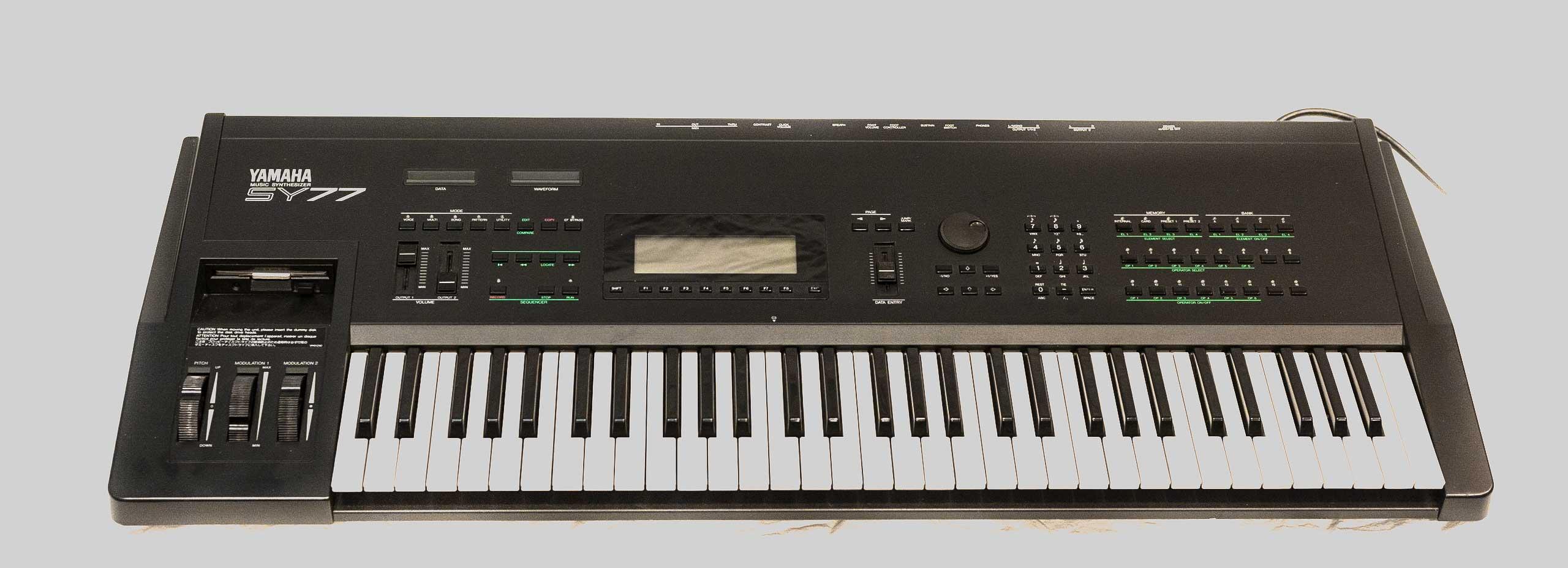 Yamaha SY77 front panel