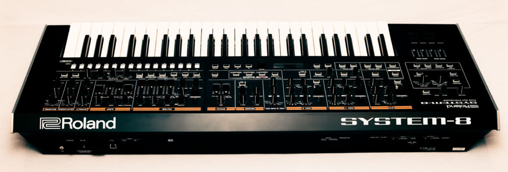 Back panel of the Roland System-8